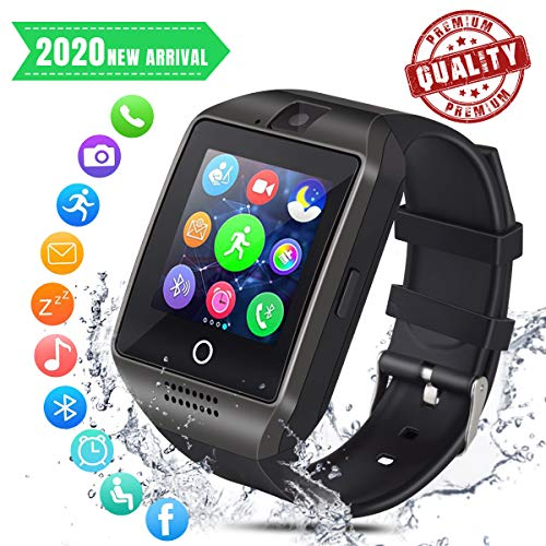 Smart Watch Bluetooth Smartwatch Smart Watch for Android iOS Phone with Pedometer and Sleep Monitoring Cell Phone Watch with SIM Card Slot for Men Women Kids