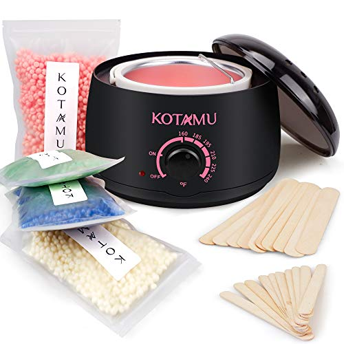Wax Warmer Kit Kotamu Hair Removal Waxing Kit With 4 Hard Wax